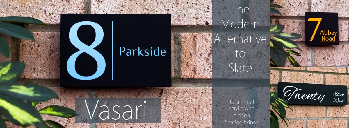 Vasari - The modern alternative to slate house signs