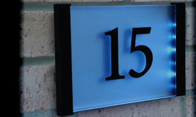 led illuminated house number plaque aspire