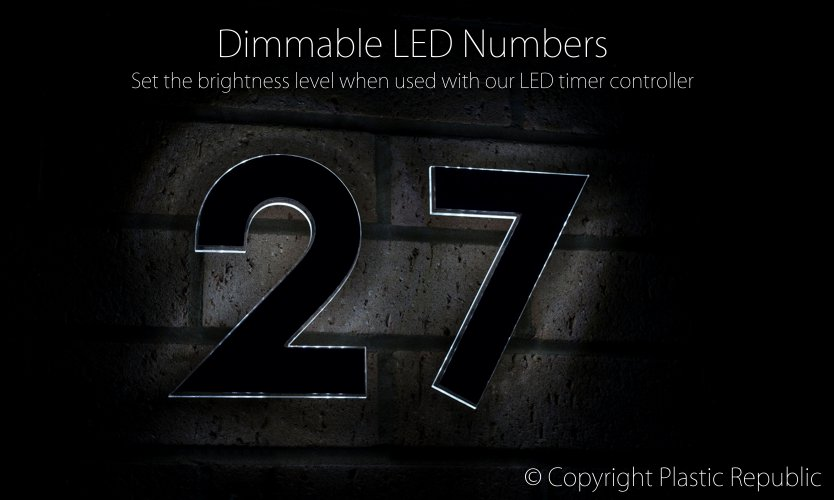LED illuminated numbers by Plastic Republic