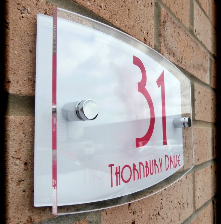 Personalised acrylic house number signs and plaques for Classic house number plaque